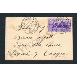 50c Virgilio isolato su lettera da Latisana (Udine)