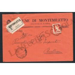 1941 Raccomandata da Montemiletto (Avellino) 1,75L isolato