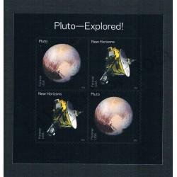 2016 USA Esplorazione di Plutone foglietto