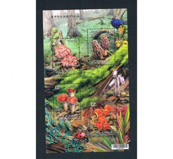2013 Taiwan (China) foglietto tematica Funghi