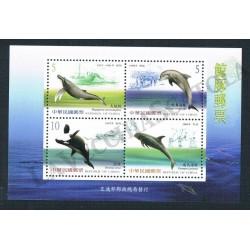 2002 Taiwan (China) foglietto tematica Cetacei