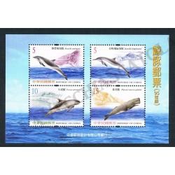 2006 Taiwan (China) foglietto tematica Cetacei