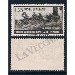1951 - Centenario di Francesco Paolo Michetti MNH/**