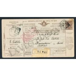 1905 Bollettino di Spedizione Mod.402B da Nervi
