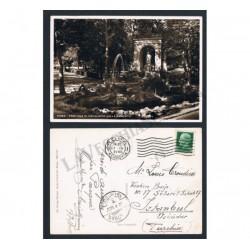 Cartolina Roma Fontana Esculapio per Istanbul (FP-BN)