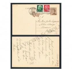 Cartolina affrancatura tricolore per Lierneux in Belgio