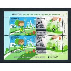 2016 Bielorussia Europa Think Green MNH/** Minifoglio