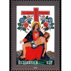 2016 Austria Francobollo di vetro - Pietà e Croce