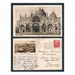 Cartolina per estero Saint-Jeannet Francia da Venezia