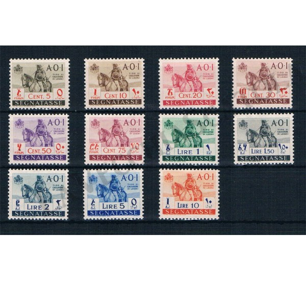 1942 A.O.I. Segnatasse Cacciatore a cavallo 11v MNH/**