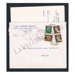 Lettera con testo da Foggia ad Avellino - Imperiale