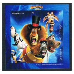 2012 Austria il film Madagascar 3 foglietto MNH/**