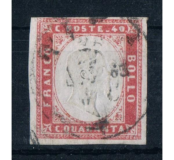 ASI Sardegna 40cent Sas.16Eb rosa lillaceo firmato Ballabio