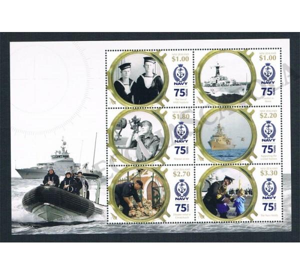 2016 Nuova Zelanda anniversario Navy (RNZN) foglietto MNH/**