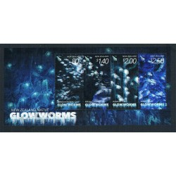 2016 New Zealand Native Glowworms foglietto MNH/**