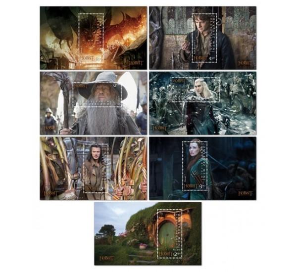 2014 Nuova Zelanda The Hobbit serie 7 foglietti MNH/**