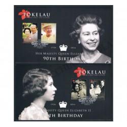 2016 Tokelau coppia di FDC compleanno Regina Elisabetta