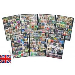 Gran Bretagna collezione oltre 300 commemorativi usati