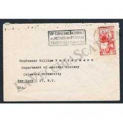 1951 Lettera per New York 60l Italia Lavoro isolato