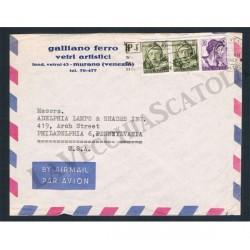 1962 Lettera Posta Aerea per Philadelphia - Michelangiolesca