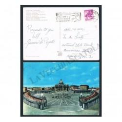 1963 Cartolina 5 parole da Reggio Emilia per USA