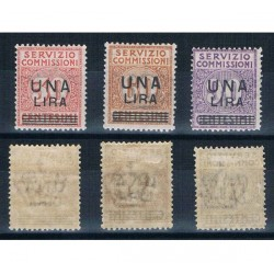 1925 Servizio Commissioni soprastampati MLH/*