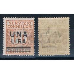 1925 Servizio Commissioni 1 lira su 60cent MNH/**