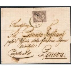 1864 piego 30cent de La Rue Londra (L19) da Chiavari