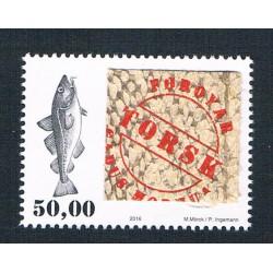 2016 Faroer francobollo con vera pelle di merluzzo MNH/**
