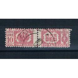 1946 Luogotenenza 10 Lire Pacchi Postali Sas.64