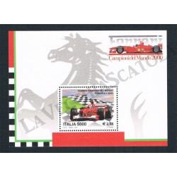2001 Foglietto Ferrari campione del Mondo MNH/**