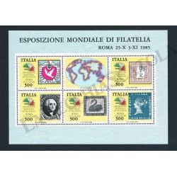 1985 Foglietto Esposizione Mondiale Filatelia MNH/**