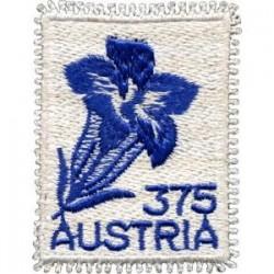 2008 Austria Genziana Francobollo ricamato nuovo