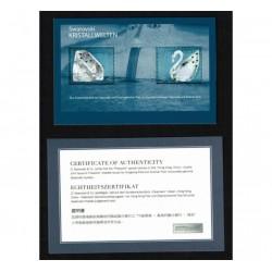 2004 Austria Foglietto Cristalli di Swarowski con certificato