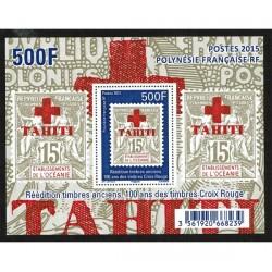2015 Polinesia Francese Croce Rossa Foglietto MNH/**