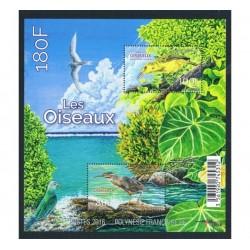 2016 Polinesia Francese Uccelli foglietto MNH/**