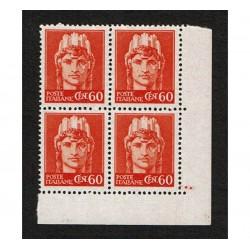 1945 RSI Cent 60 imperiale senza fasci Sas.539 Quartina