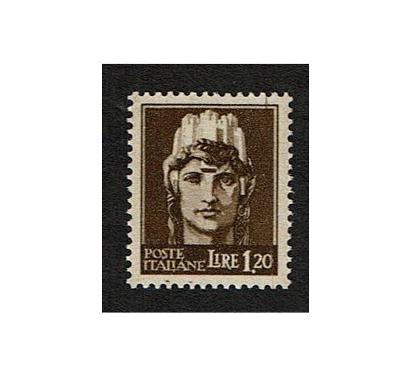1945 RSI Lire 1,20 imperiale senza fasci Sas.532 MNH/**