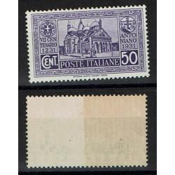 1931 S.Antonio cent.50 Sas.295 nuovo MH/*