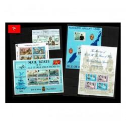 Isle of Man Lotto di 5 foglietti nuovi MNH/**