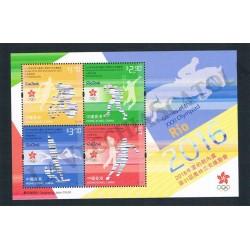 Hong Kong Olimpiadi Rio 2016 foglietto MNH/**