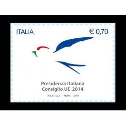 2014 Presidenza italiana del consiglio d'Europa MNH/**