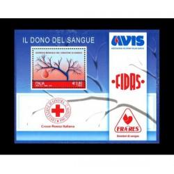 2015 Dono del sangue - FOGLIETTO MNH/**