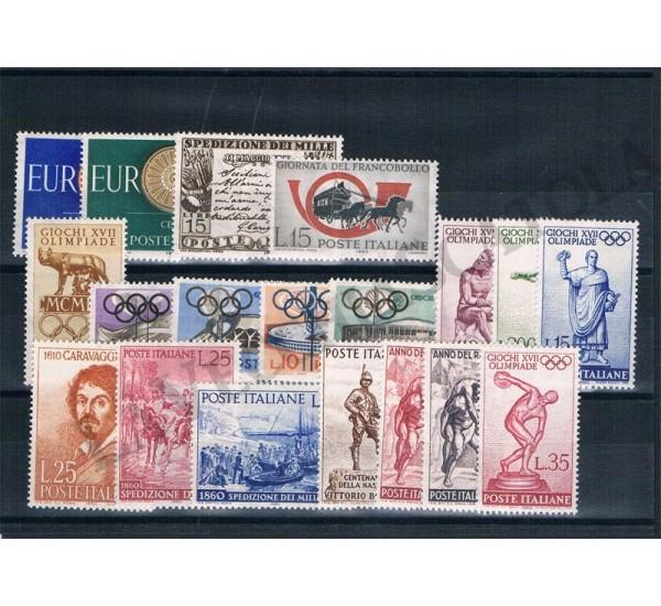 1960 Repubblica Italiana - Annata completa MNH/** 19val
