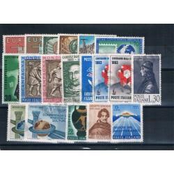1963 Repubblica Italiana - Annata completa MNH/** 19val