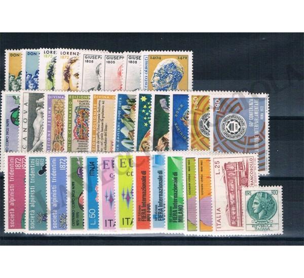 1972 Repubblica Italiana - Annata completa MNH/** 33val
