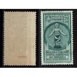 1937 Colonie Estive Sas.414 MH/* Lire 2,75 + 1,25