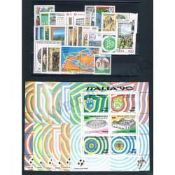 1990 Repubblica Italiana - Annata completa MNH/** 27val+6BF