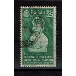 1937 Colonie Estive Sas.408 usato Cent.25