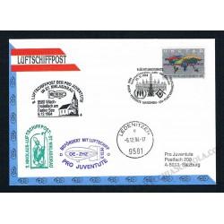 1994 Luftschiffpost n.8 Dirigibile OE-ZHZ - Pro Juventute ONU